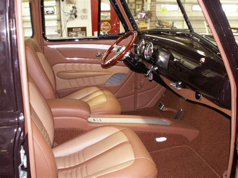 chevy truck upholstery 1953 chevrolet truck leather custom interior interiors by