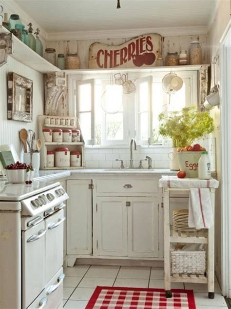 and white country kitchen home decorating ideas - Country Kitchen Decor