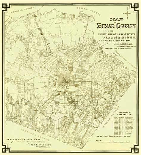 map of bexar county texas txbe0002 a jpg