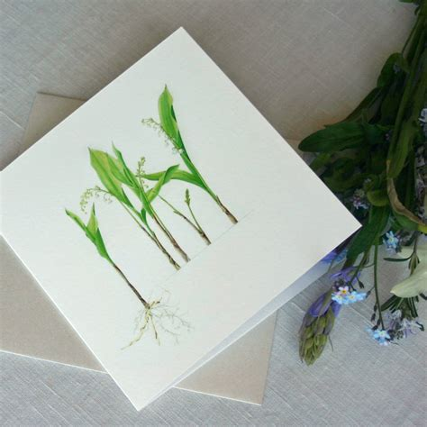the valley card of the valley flower card by the botanical concept
