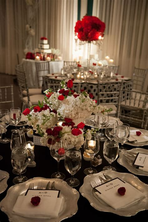 accent table decorating ideas wedding table decoration with red accent wedding ideas