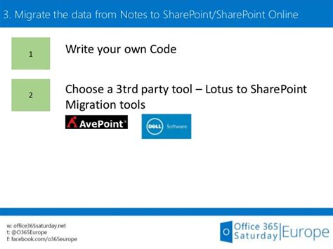 migrate lotus notes to sharepoint how to migrate from lotus notes to sharepoint 2013 or