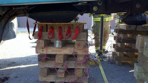 Extrication Cribbing by Heavy Vehicle Lifting Plans A B C