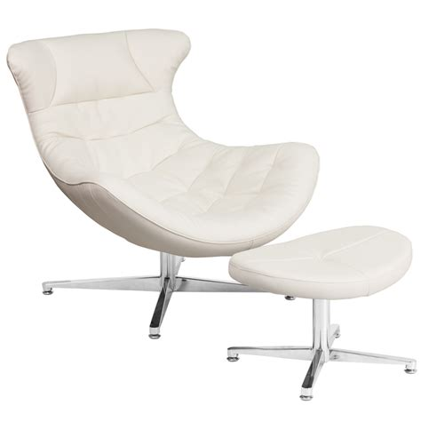 Cocoon Chair by White Leather Cocoon Chair With Ottoman Zb 41 Cocoon Gg