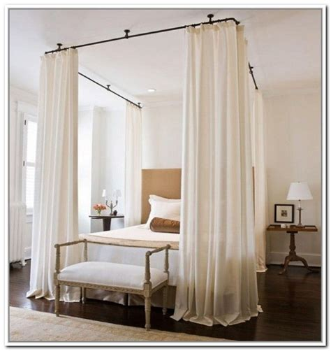 Canopy Bed With Curtains Best 25 Curtain Rod Canopy Ideas On Pinterest Curtains Without Drilling Curtains Without