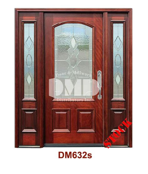 Mahogany Exterior Doors Wholesale Dm632s Mahogany Exterior 3 4 Arch Lite Strathmore Zinc Caming Door And Millwork Distributors