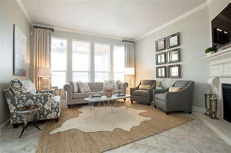 wonderful Gray Living Room Walls #4: Beautiful-transitional-living-room-with-gary-sofa.jpg