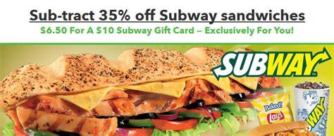 Sell Subway Gift Card - 10 subway gift card for just 6 50 money saving mom 174