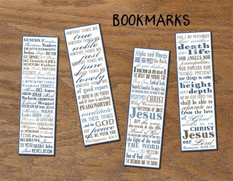 Printable Bookmarks With Names | christian bookmarks instant download diy printable book