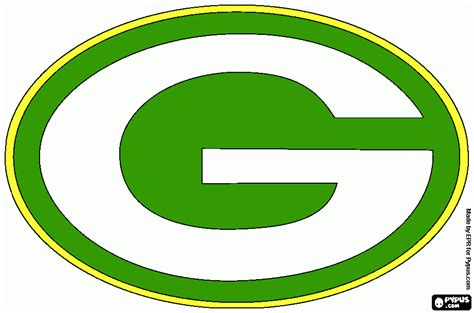 Go Packers coloring page, printable Go Packers