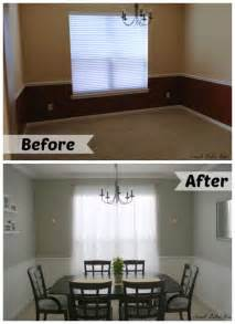 Kendra Is Painting Dining Room White And Living Room Blue Dining Room Makeover Before After Paint Colors