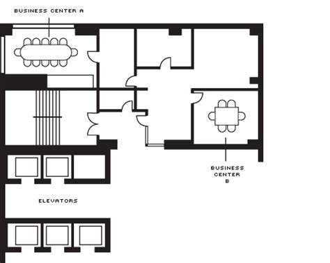create a floor plan for a business business centre a