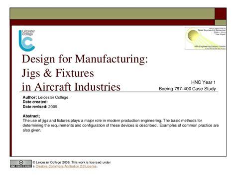 design for manufacturing slideshare jigs fixtures