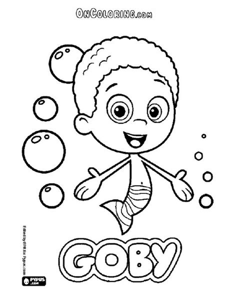 To Color Online Or Print Bubble Guppies Bubulle Guppies Coloring Pages Printable Gianfreda