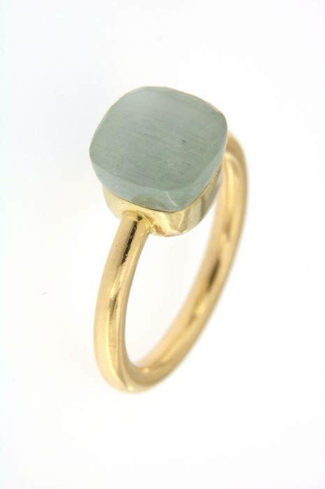 pomellato nudo pomellato nudo ring with aquamarine made in