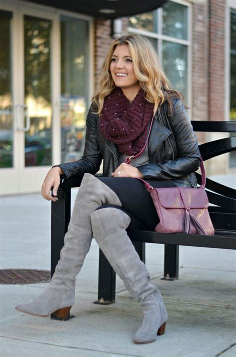 gray the knee boots by m