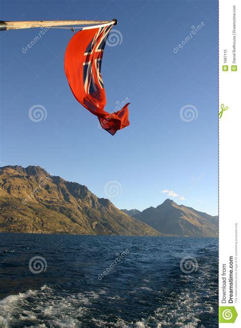 boat flags nz new zealand maritime flag royalty free stock photo image