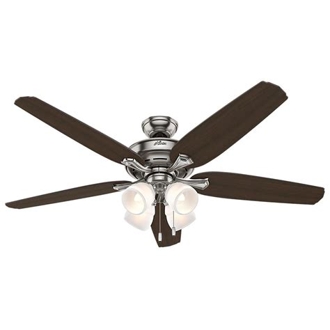 escape ii 60 in led brushed nickel ceiling fan hunter channing 60 in led indoor brushed nickel ceiling