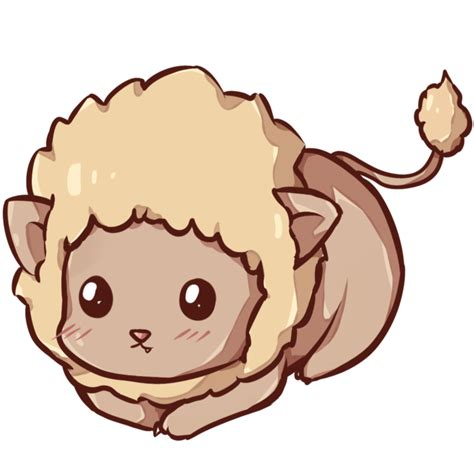 imagenes kawaii tumblr png kawaii lion by dessineka on deviantart