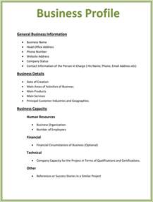 business profile templates easily create professional