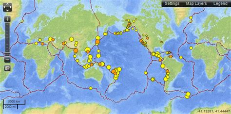recent earthquakes map recent earthquake map my