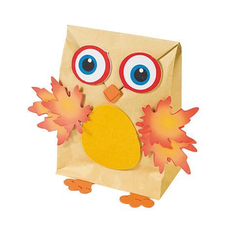 Paper Bag Owl Craft - owl nature bag craft kit trading