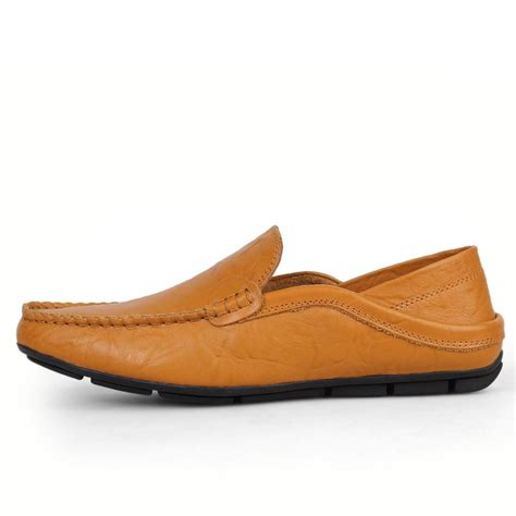 boys loafers mens boys genuine leather loafers comfort driving moccasin