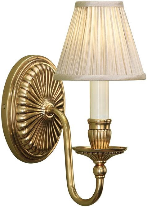fitzroy georgian style solid brass wall light with beige