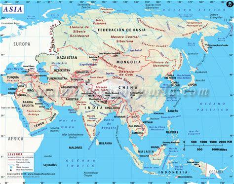 map of asi mapa de asia mapa asia