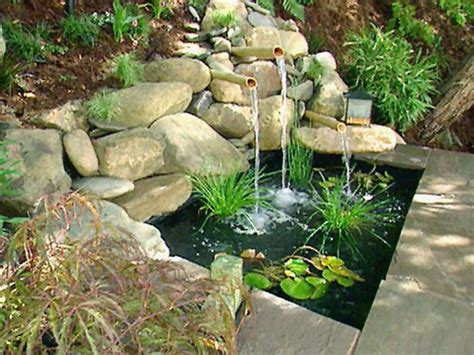 Backyard Water Features Ideas Home Garden Ideas Garden Water Feature Ideas