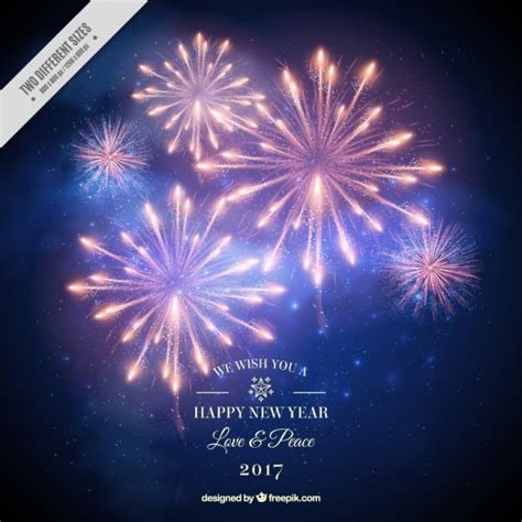new years style new year background 2017 of fireworks in realistic style