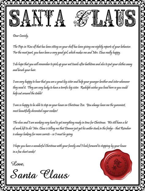 Santa Letterhead Printable Inspiration Made Simple | santa letterhead printable inspiration made simple