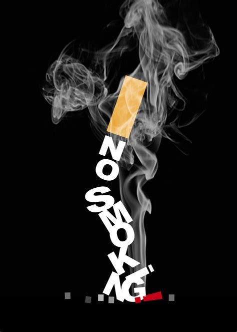 poster design on no smoking graphic design project psa poster