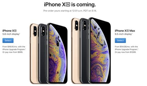 the iphone xs and iphone xs max pre orders are open update neowin