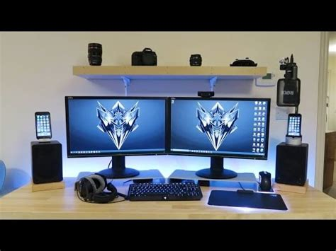 Gaming Setup Desk by My Gaming Setup Ikea Desk Pc Editing Workstation Tour