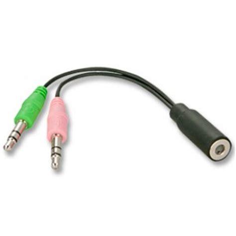 Kabel Splitter Headset Mic Untuk Laptop Mini Pc lindy headset to pc splitter cable cablekiosk