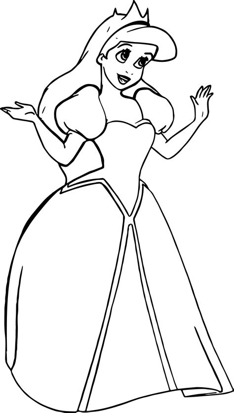 cute ariel coloring pages coloring pages wedding princess ariel coloring page wecoloringpage
