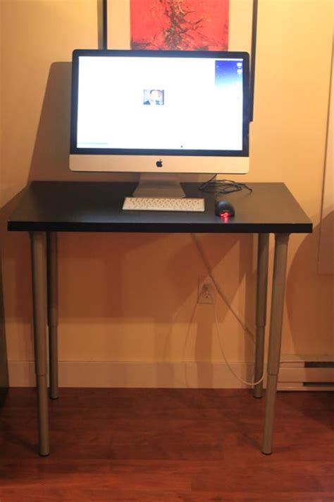 The 100 Dollar Stand Up Ikea Desk Luke Thomas Standing Up Desk Ikea