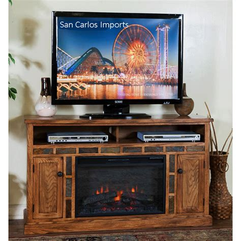 rustic oak tv stand fireplace tv stand fireplace