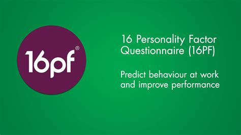 Career Personality Factor Questionniere Mba by 16 Personality Factor 16pf Questionnaire On Vimeo