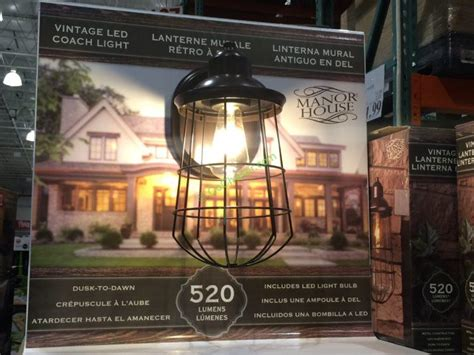 altair outdoor led coach light costco manor house vintage led coach light costcochaser