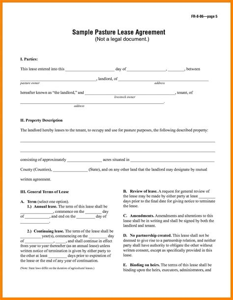 7 basic lease agreement template packaging clerks