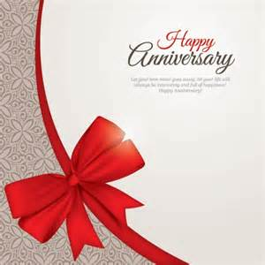 happy anniversary card vector free
