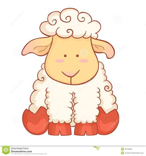 new year of the sheep vector sheep character of new year symbol stock