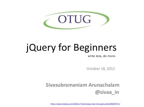 javascript tutorial for beginners ppt jquery for beginners