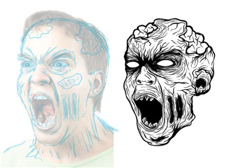 zombie drawing tutorial how to create a gruesome zombie illustration