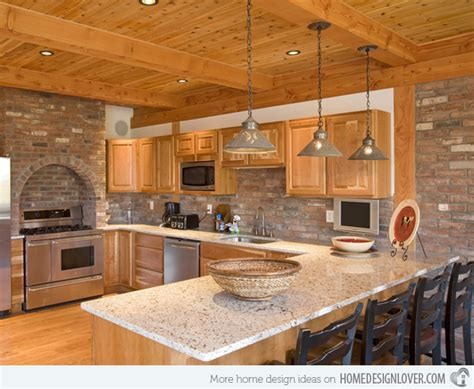 brick kitchen ideas 15 charming brick kitchen designs decoration for house