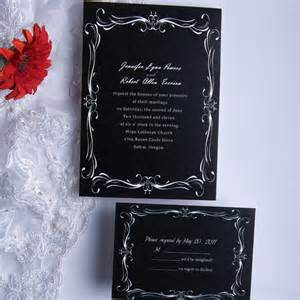 classic black and white wedding invitations ewi014 as low as 0 94