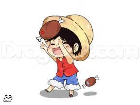 how to draw a chibi luffy from one piece step by step