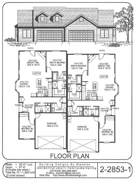 twin home floor plans 1000 ideas about duplex house plans on pinterest duplex